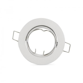 Support GU10 rond encastrable inclinable aluminium