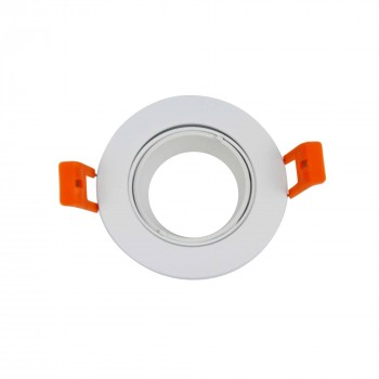 Support spot encastrable rond Blanc diamètre 50mm, Ø75mm