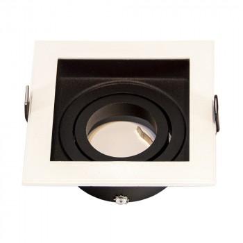 Support encastrable carré GU10/MR16 basculable