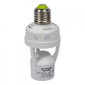 Adaptateur ampoule LED E27 détecteur de présence intégré