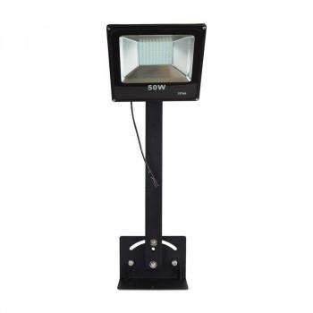 Support noir pour projecteurs LED pour enseigne 75 cm