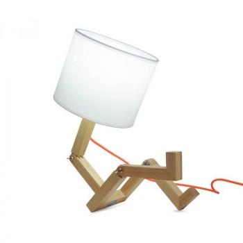 Lampe de table Yoki en bois