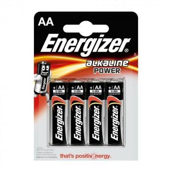 PILE ENERGIZER ALKALINE POWER LR6 (AA) BLISTER 4 U