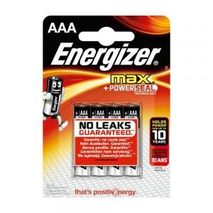 Pile Energizer Max LR03 (AAA) 1.5V Blister 4 U