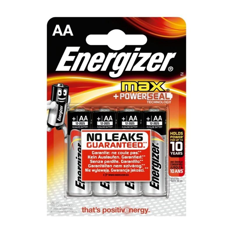 Pile Energizer Max LR6 (AA) 1.5V Blister 4 U