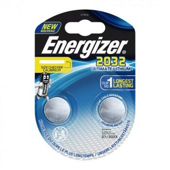 Pile Energizer CR2032 Lithium Performance 3V Blister 2 U