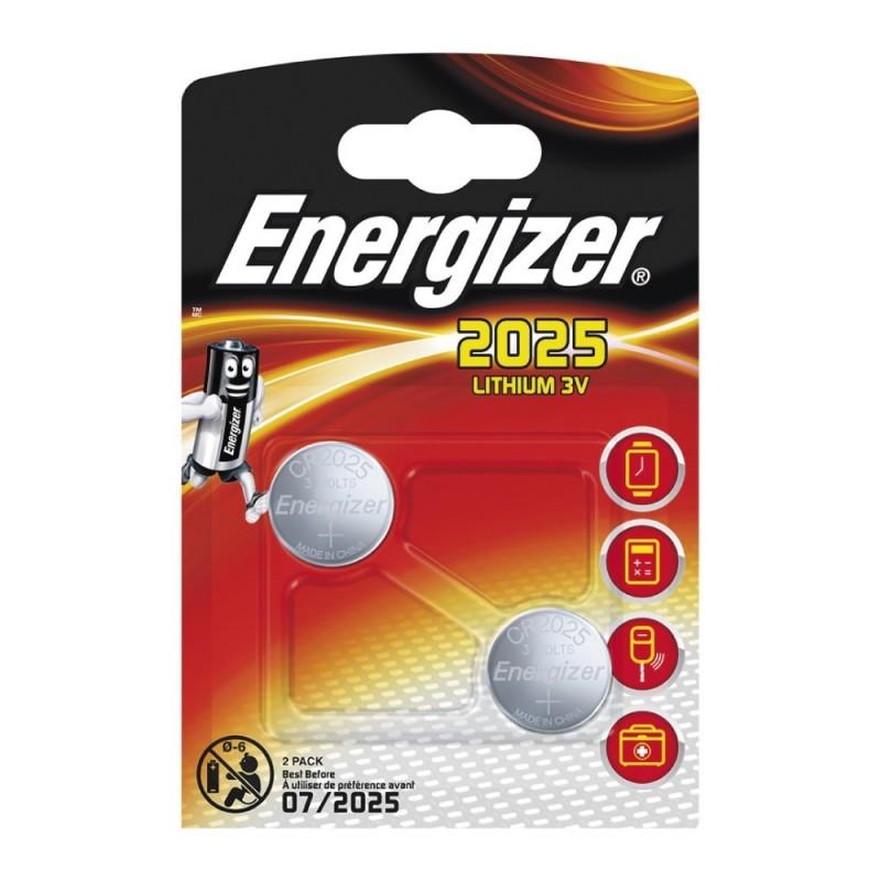 Pile Energizer CR2025 Lithium 3V Blister 2 U