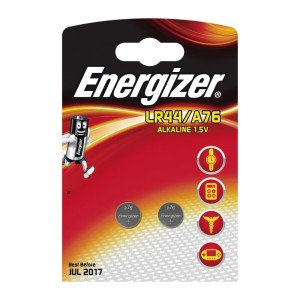 Pile Energizer A76 / LR44 1.5V Paquet 2 U