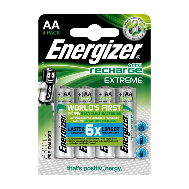 Pile Rechargeable Energizer Extreme 2300mAh HR6 (AA) 1.5V Blister 4 U