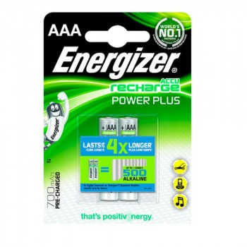 Pile Rechargeable Energizer Power Plus 700mAh HR03 (AAA) Blister 2 U