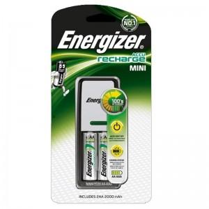 Mini chargeur de piles Energizer 2 HR03 (AAA) 700mAh avec 2 piles incluses
