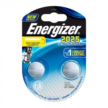 Pile Energizer CR2025 Lithium Performance 3V Blister 2 U