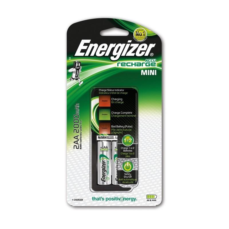 Chargeur de piles Energizer 2 HR6 (AA) 2000mAh
