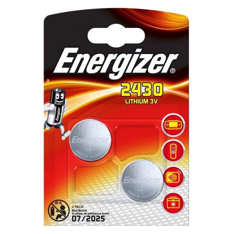 Piles Energizer CR2430 au lithium, 3V (2 unités)