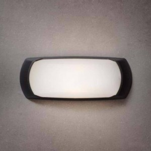 Applique E27 Noire diffuseur Opale