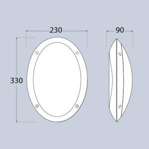 Hublot oval extérieur