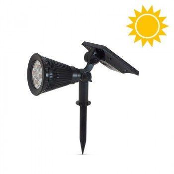 Spot solaire sur piquet de jardin 2W 3000K