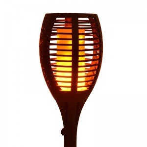 Flambeau solaire LED avec ampoule effet feu