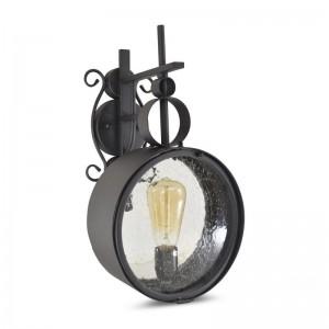 Lanterne Vintage Octurna couleur noir mat E27