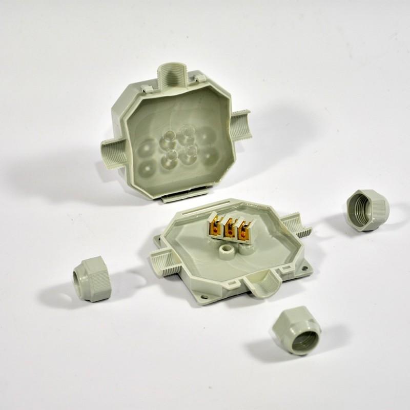 Coffret de connexion étanche IP68 READYBOX 90 3 connecteurs  6mm2