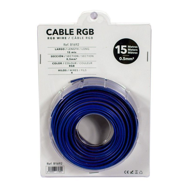Câble RGB de 4 fils pour installations à 12-24V