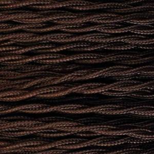 Câble électrique tressé marron bobine de 10m