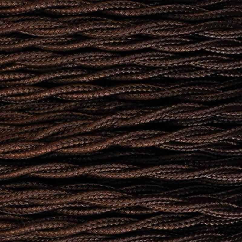 Câble électrique tressé en tissu de couleur bobine