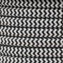 CÂBLE ELECTRIQUE TEXTILE zigzag couleur 2 x 0,75