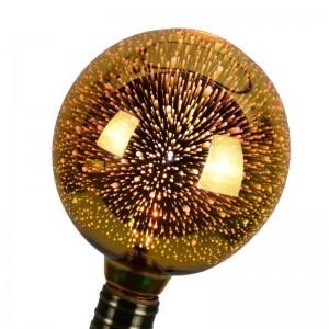 "Ampoule LED globe 6W G125 E27 ""Big Bang 3D"""