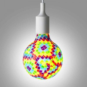 Ampoule LED G130 mosaïque Barcelona