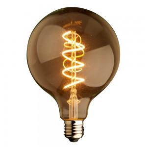 AMPOULE LED SOFT FILAMENT SPIRALE GOLD VINTAGE E27 G125 4W DIMMABLE 2000K