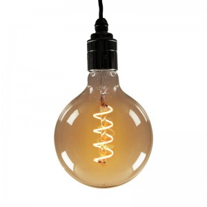 AMPOULE LED SOFT FILAMENT SPIRALE GOLD VINTAGE E27 G125 4W DIMMABLE 2000K