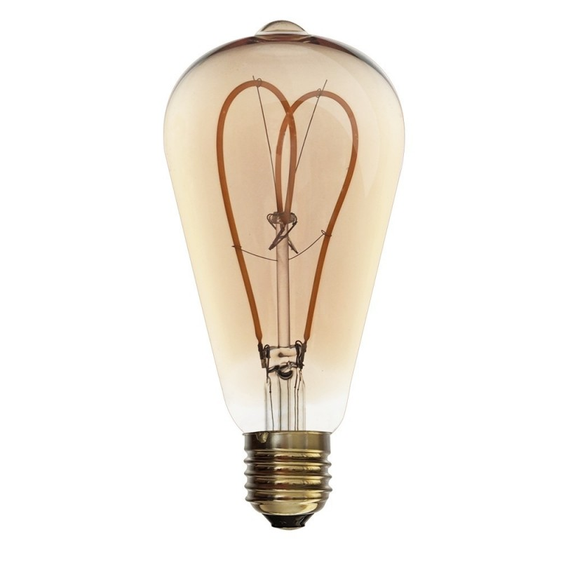 AMPOULE LED SOFT FILAMENT SPIRALE GOLD VINTAGE ST64 E27 4W DIMMABLE 2000K