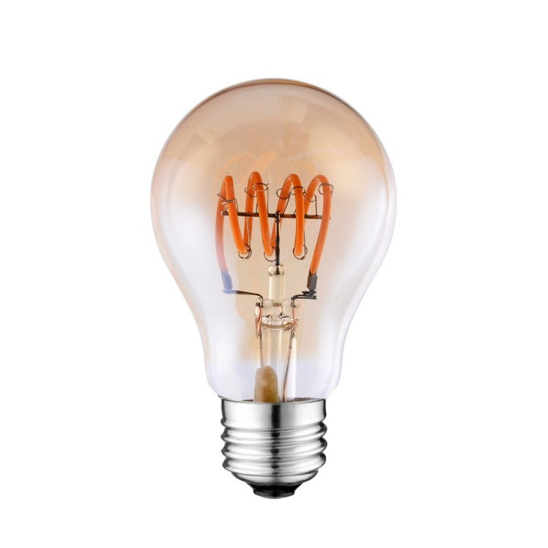 AMPOULE LED SOFT FILAMENT SPIRALE GOLD VINTAGE E27 A60 4W DIMMABLE 2000K