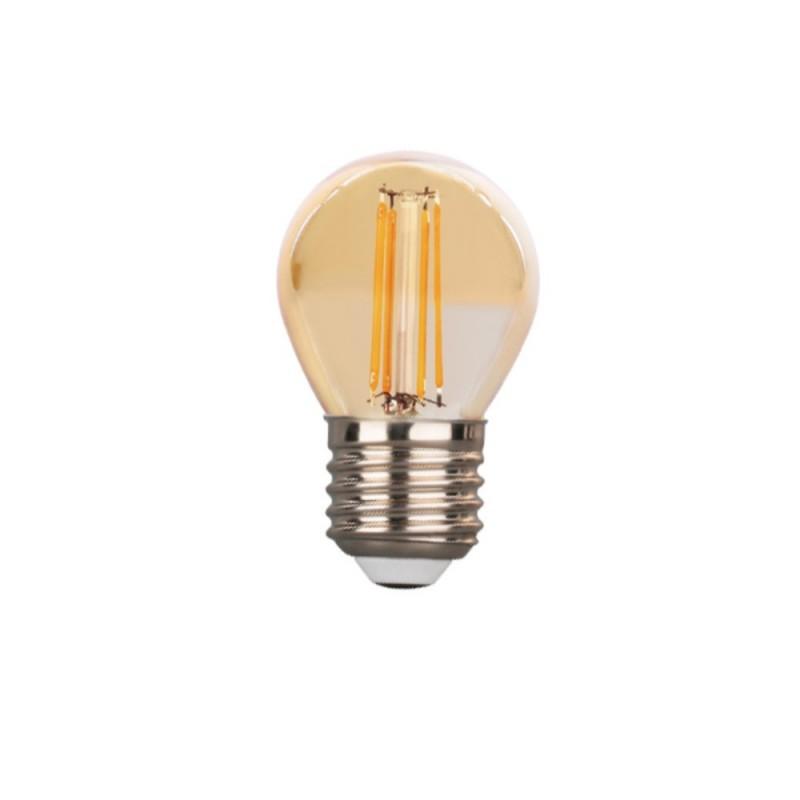 Ampoule sphérique LED G45 VINTAGE 4W FILAMENT E27 AMBRE 1800K