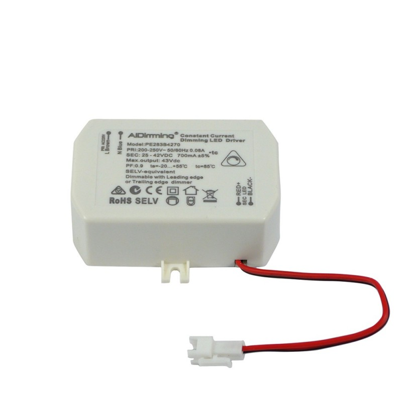 Driver TRIAC dimmable 25-42V-CC 700mA