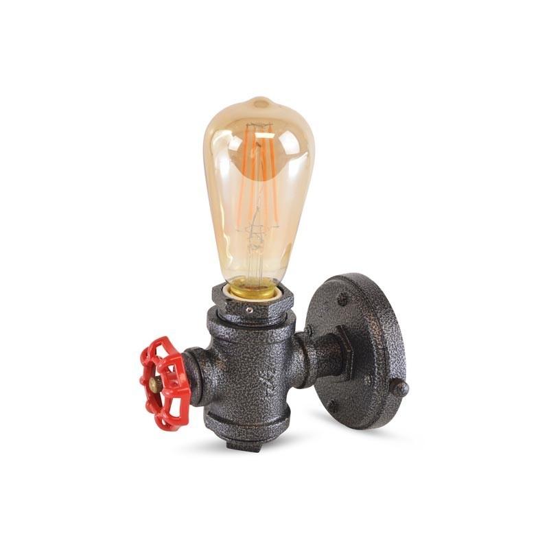 Lampe de tuyauterie murale Luxxo Style Vintage