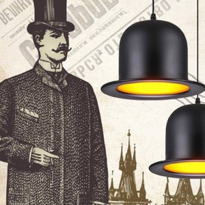 "Suspension ""Chapeau Melon Mister Lamp"""