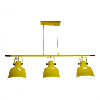 Suspension style industriel couleur