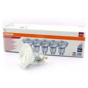 Pack éco de 5 ampoules LED Osram GU10 4,3W
