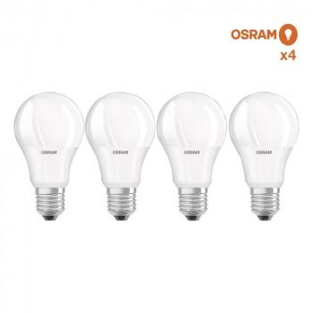 Pack éco de 4 ampoules LED Osram E27 8,5W verre opaque