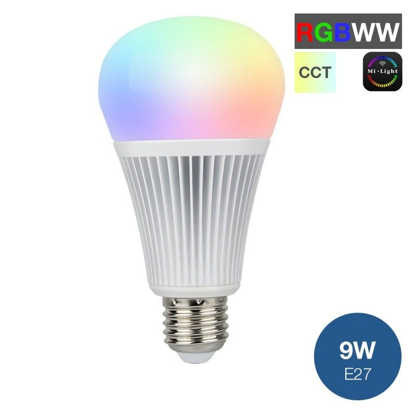 Ampoule LED MiLight RGB+CCT E27 9W