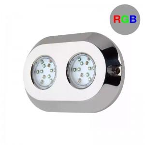 Spot LED RGB submersible pour bateaux 120W