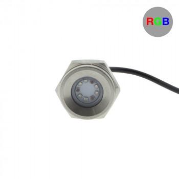 Spot LED RGB encastrable 27W 12V pour bouchon de vidange (bateau)