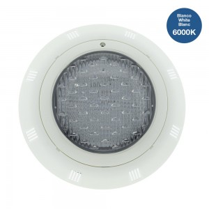 Foco LED de superficie para piscina 24W 12V-AC IP68 Blanco frío
