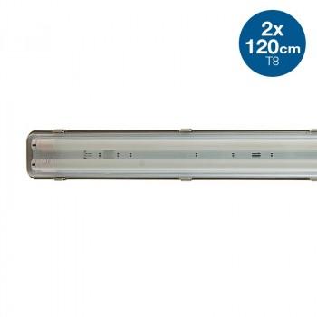 Boîtier étanche 2 tubes LED 120cm