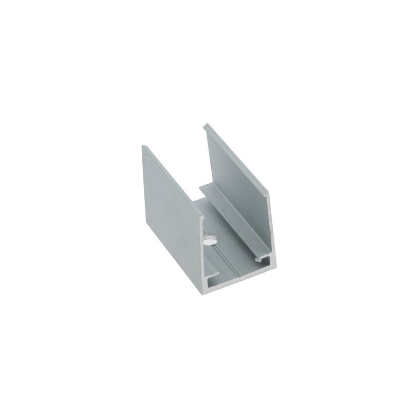 Clip de fixation pour profilé flexible en silicone 16x16mm