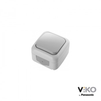 Interruptor 10A 250V IP54 Gris para exterior VIKO by Panasonic