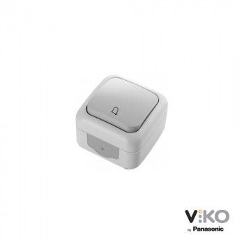 Pulsador 10A 250V con símbolo campana IP54 VIKO by Panasonic