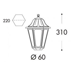 """Lanterne sur pied """"Mikrolot/Anna"""""""